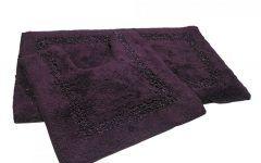 Aubergine Bath Mat 100% Cotton Bath Set | Red | Sparkle | Tonys Textiles