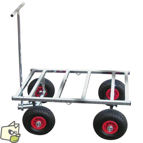 Chariot LUXE TOUT TERRAIN transport de cage chien ou chat