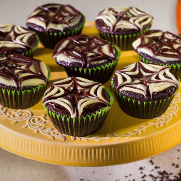 Briose cu ciocolata pentru Halloween