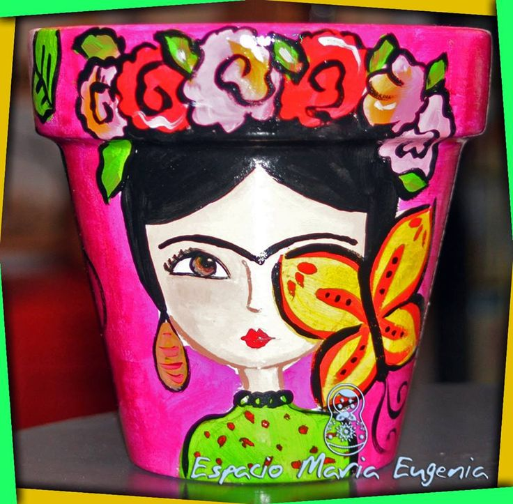 Maceta Frida Mariposa Espacio María Eugenia