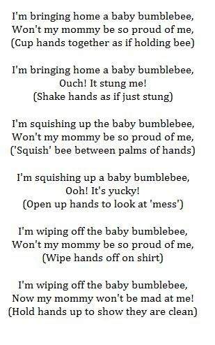 The Bumble Bee song.....Now I know what John-Ryan keeps singing!!