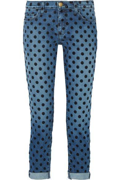 Blue stretch-denim Button and concealed zip fastening at front 97.4% cotton, 2.6% elastane  Machine wash
