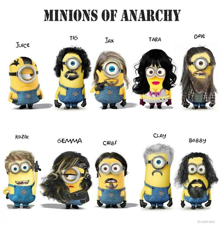 Minions Of Anarchy // Chibs! // Sons Of Anarchy: Sons Of Anarchy, Funny Stuff, Soa Minions, Movie, Humor, Funnies, Soaminion, Things, Funnystuff
