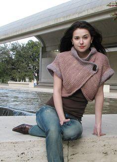 Nob Hill shrug by Ashley Adams Moncrie - free knit pattern on Knitty