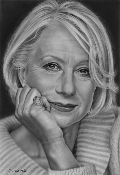 Pencil Portrait Mastery - Helen Mirren by manda - Discover The Secrets Of Drawing Realistic Pencil Portraits