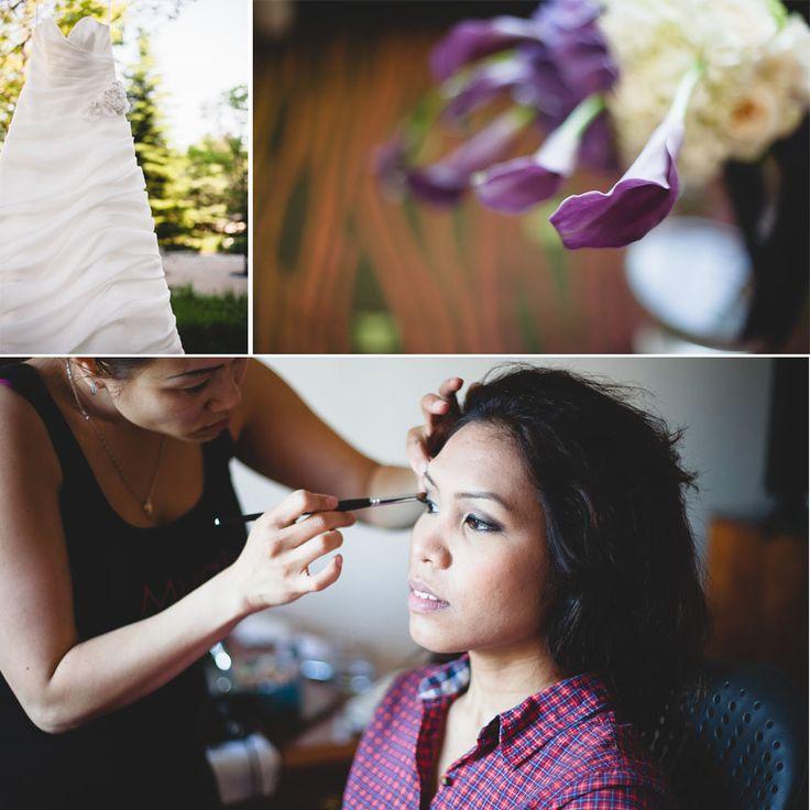 Liuna Gardens Wedding | Toronto documentary wedding photographer captures the bride as she got ready in her hotel room.