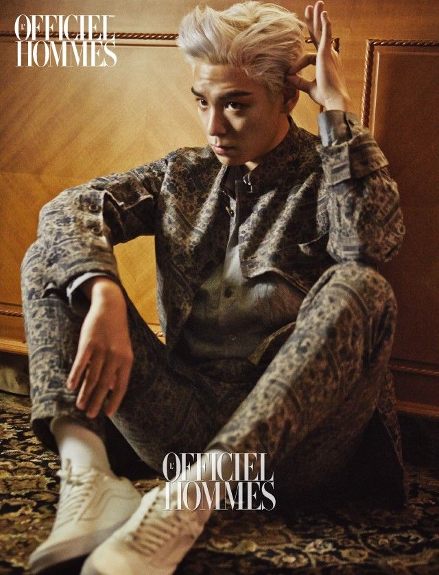 BIGBANG T.O.P Aims to Get You Wet for L'Officiel Hommes (Jan 2015) Magazine #3!