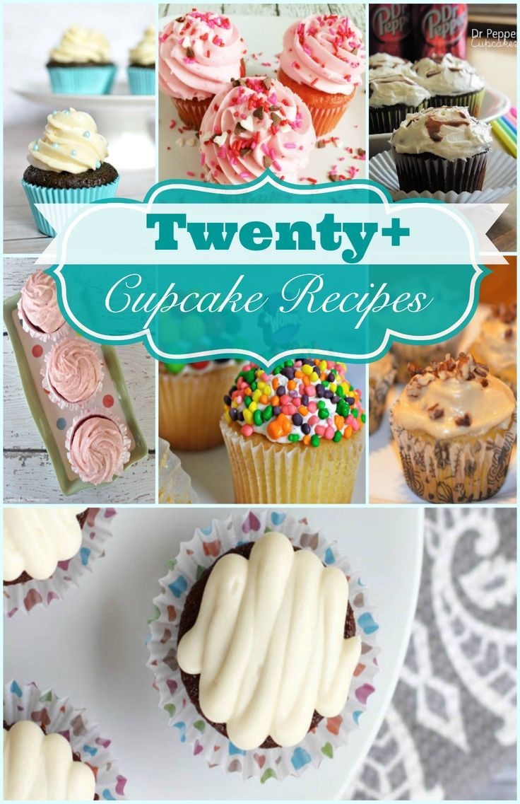 Twenty Easy and Delicious Cupcake Recipes. Pin Now and make later!