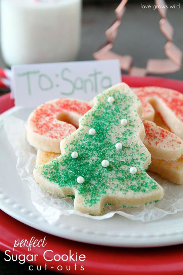 Perfect Sugar Cookie Cut-Outs | 15 Favorite DIY Christmas Cookies | Best Christmas Cookie Recipes