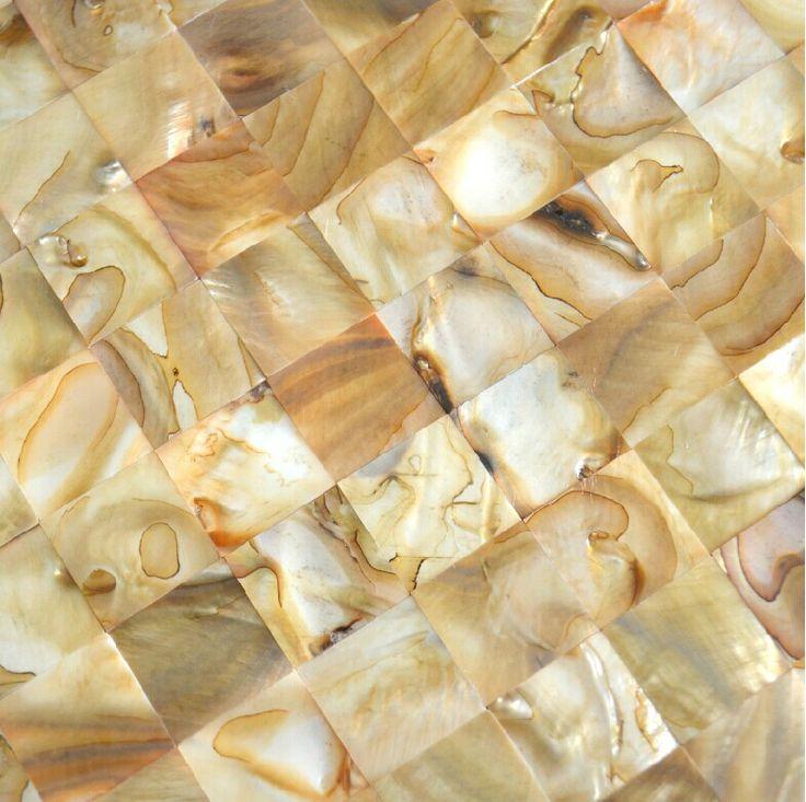 Goldl shell mosaic tiles backsplash MOP092 mother of pearl tile shell mosaic bathroom wall tiles fireplace mosaics tile [MOP092] - $19.69 : MyBuildingShop.com