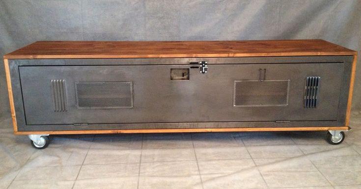 Les 25 meilleures id es concernant meuble tv industriel sur pinterest meubl - Meuble tv metallique ...