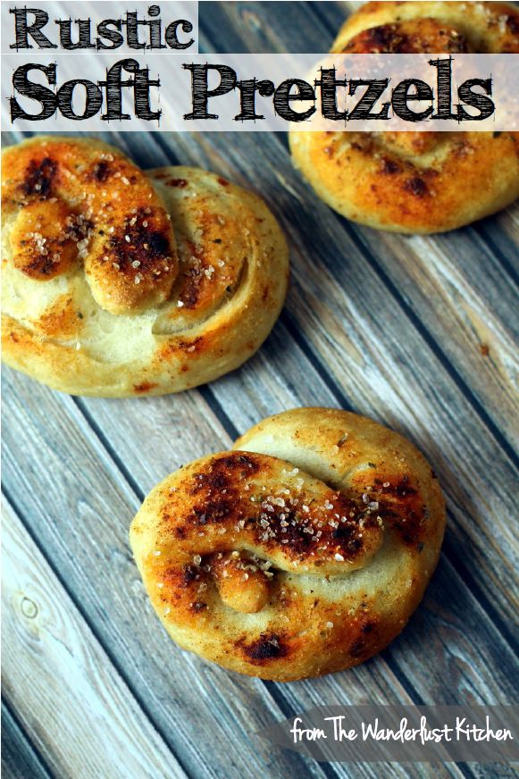Rustic Soft Pretzels - warm up your kitchen with these easy and delicious pretzels! | from The Wanderlust Kitchen