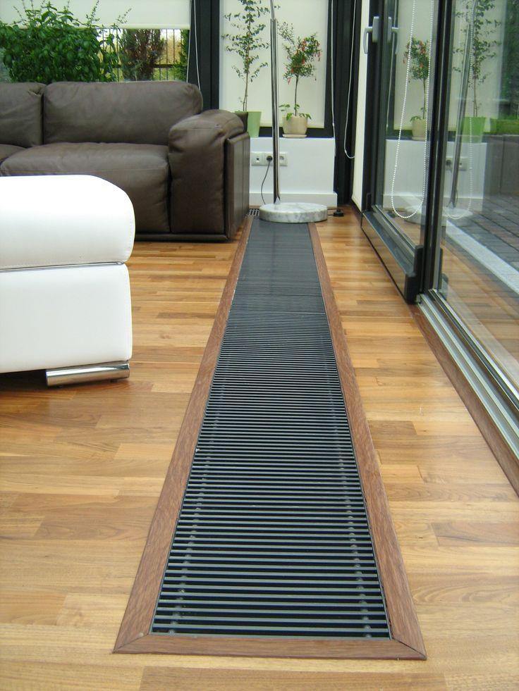 Szczeble w podestach przykrywających kanał grzewczy mogą mieć dystans 7, 10 lub 13 mm