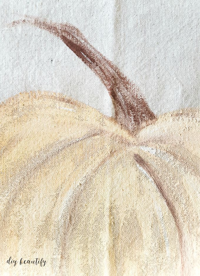 good tutorial on how to paint a pumpkin on fabric/canvas