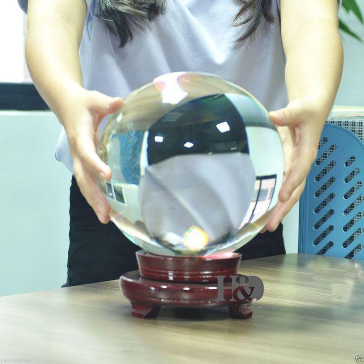 Natural Stand Asian Rare  Quartz Clear Magic Crystal Healing Ball Sphere 100mm+
