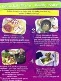 Healthy Boil Up Flyer - Learn the secret to making a healthy boil up and has a bonus pumpkin doughboys recipe on the back