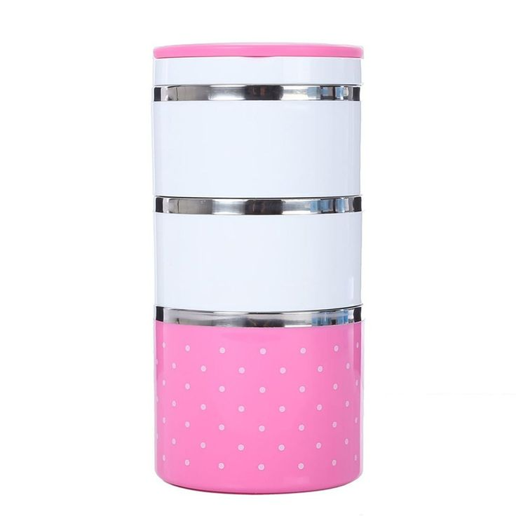 2016 New Arrival 1-3 Layers Cute Food Container Stainless Steel Lunch Box Insulation Bento Thermo Thermal Lunch Box