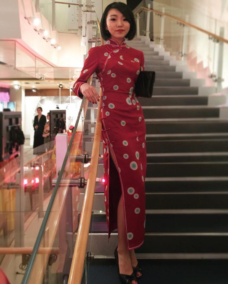 三和@#Qipao made with special Kimono fabric #comtemporary #Asia #Art #Culture #History #Trade  #China #Tang #Dynasty #Celebration