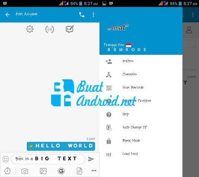 BBM Mod Official v3.3.6.51 Apk With Big Text
