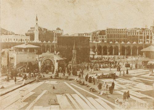 The Holy Meccan Mosque , Makkah, Hejaz 1880s الحرم المكي، مكة، الحجاز، في عهد ١٨٨٠