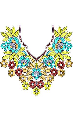 Knit Dresses Embroidery Neck Design