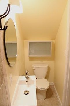 8 best images about bathroom under the stairs on pinterest for Bathroom design under stairs