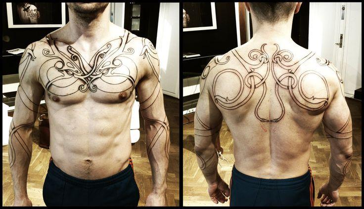 Urnes torso, day 2. by Meatshop-Tattoo.deviantart.com on @deviantART