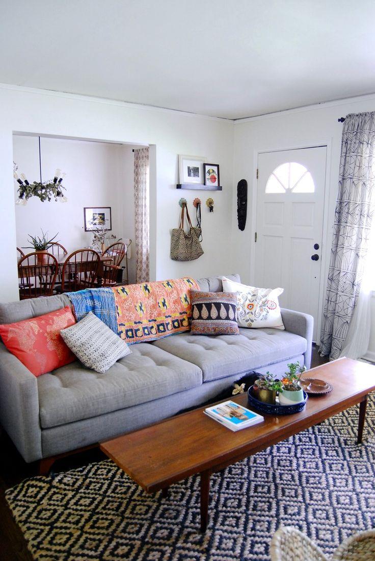 Bohemian Minimal Style With Rich, Vibrant Textiles — House Tour