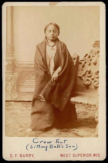 Crowfoot (the son of Sitting Bull) - Hunkpapa - circa 1885 {Note: When Sitting Bull and his followers sought sactuary in Canada, shortly after the battle at the Little Bighorn River, he became friends with the Blackfoot Chief named Crowfoot. It is said that Sitting Bull was so impressed by the Blackfoot Chief, that he named him son after him.}Originals American, Sitting Bull, American Indian, Fathers Life, American Native, Crows Foot, Bull Sons, American Fathers, Native American