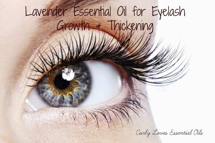 Curly Loves Essential Oils: Lavender and Rosemary Essential Oil for Eyelash Growth & Thickening