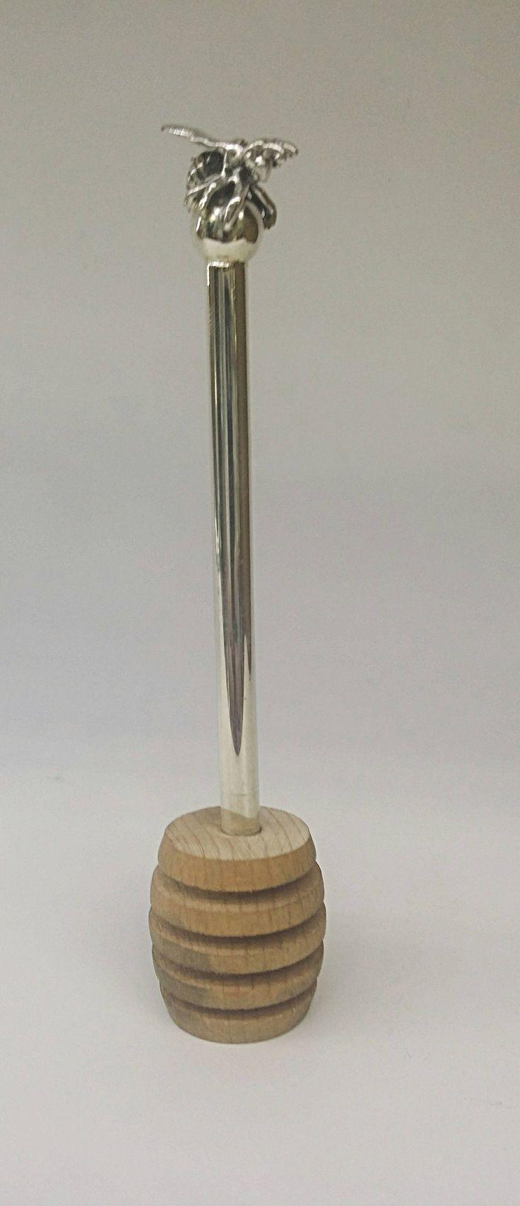 Sterling silver 925 Teaspoon of honey by STUBSILVERWARE on Etsy