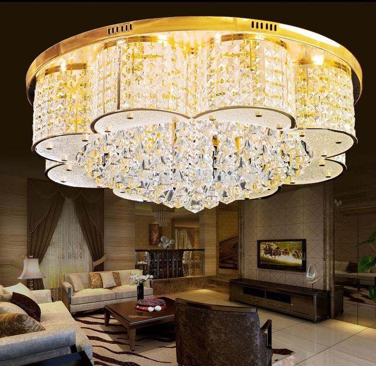 Кристалл K9 LED Светодиодные Лампы Современные Стеклянные Светильники Столовой Люстры Потолок Фойе Кристалл Светодиодные Лампы