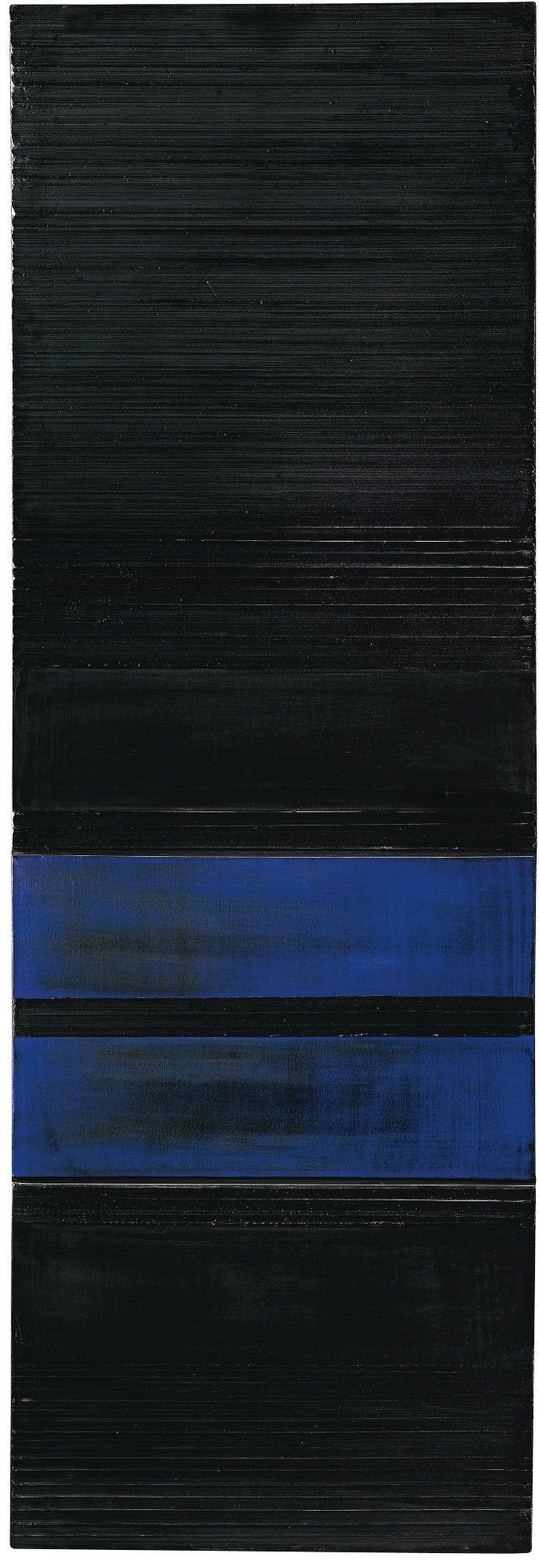 PIERRE SOULAGES N. 1919 PEINTURE 237 X 81 CM, 27 FÉVRIER 1990