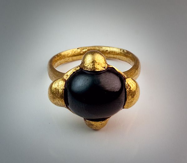 Early Medieval Byzantine Gold Ring | From a unique collection of vintage solitaire rings at http://www.1stdibs.com/jewelry/rings/solitaire-rings/