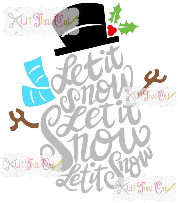 EXCLUSIVE Let It Snow Snowman  SVG & DXF File by KutThatOut on Etsy https://www.etsy.com/listing/260044044/exclusive-let-it-snow-snowman-svg-dxf