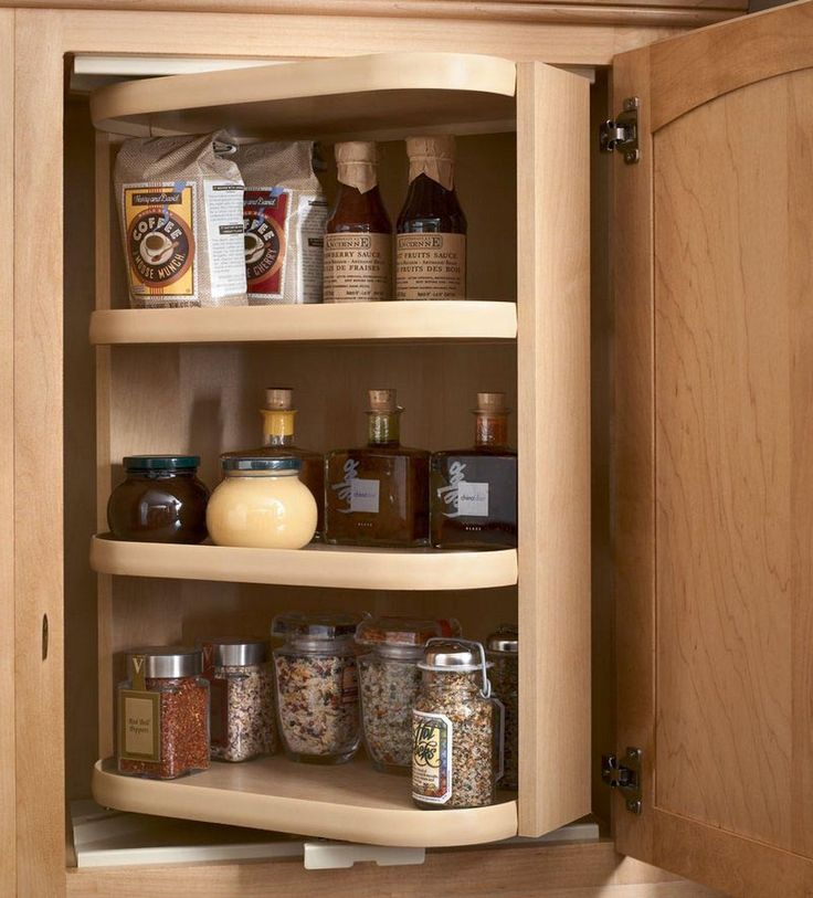 63 best images about kitchen on pinterest retro for Kraftmaid storage solutions