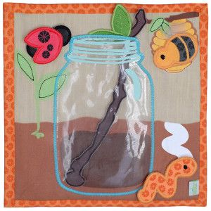 Catchin' Critters - this wūka square™ has silly bugs that fit into a bug jar. Your kids can take them out of the bug jar with a stick and place them on their home. #wuka