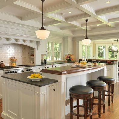 17 best images about island on pinterest transitional for Two level kitchen island