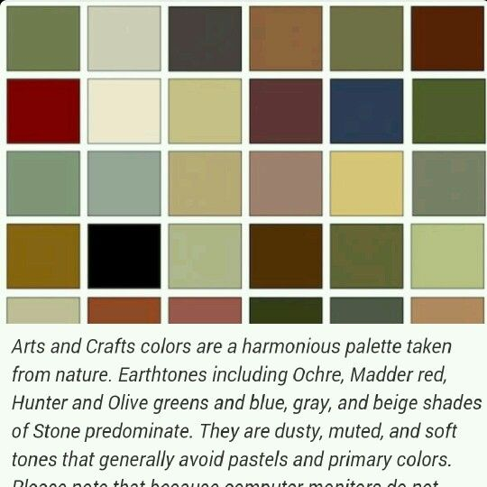 Best Historic Paint Colors Palletes Images On Pinterest - Arts and crafts interior paint colors