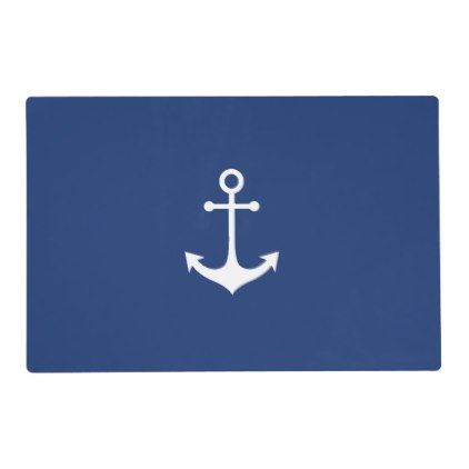 nautical anchor on navy blue placemat - blue gifts style giftidea diy cyo