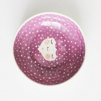 MArinski bowls with character purple dots