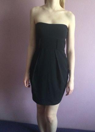 Kup mój przedmiot na #vintedpl http://www.vinted.pl/damska-odziez/krotkie-sukienki/13004441-czarna-sukienka-bez-ramiaczek-pullbear