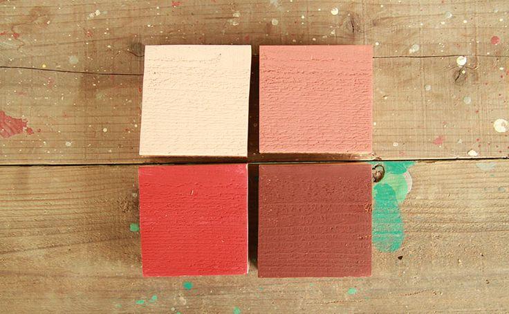 赤系フロリダピンク(floriad pink)  ゴールデンレッド(golden red)  アンティークコーラル(antique coral)  ヴィンテージワイン(vintage wine) a20150120-04フロリダピンク・・・ピンクかかったような白色。もしくは白色に微量な赤色を入れたような薄さ。アンティークコーラル・・・かわいらしさを抑えたクラシカルなピンク。ゴールデンレッド・・・きれいな赤色からサンドペーパーでこすったような色味。ヴィンテージワイン・・・赤さびに近い色のためダメージ加工塗装に使いやすい。