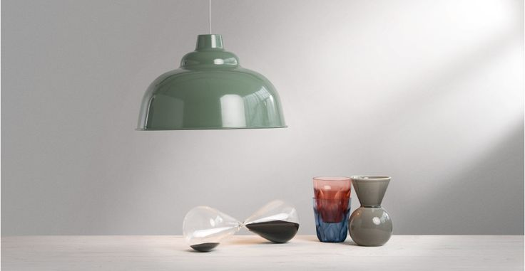 Paralume per lampada a sospensione Avery di colore verde | made.com