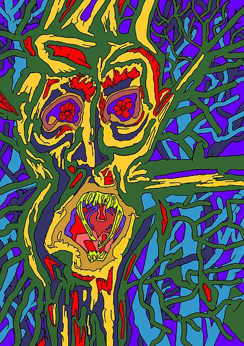 Pin By Adriana Mckenzi On Lovely Things: Angry Tree Spirit Print By John Groves