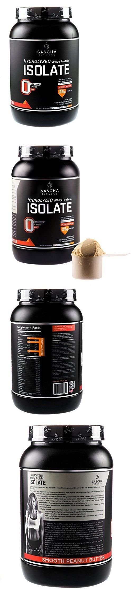 Other Fitness Running and Yoga 13362: Sascha Fitness Hydrolyzed Whey Protein Isolate (2 Pounds, Peanut Butter ) BUY IT NOW ONLY: $59.99