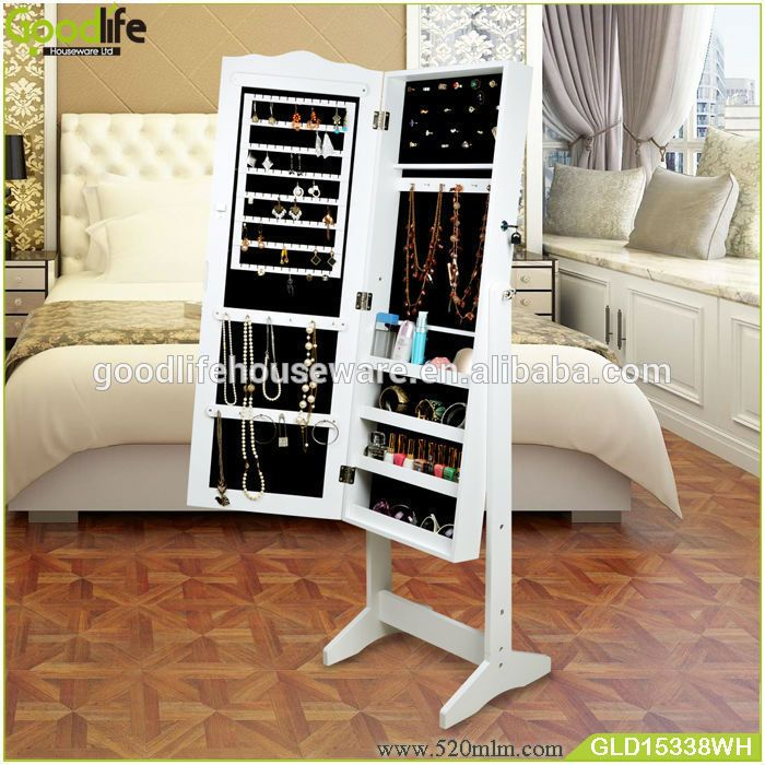 goodlife 2015 bedroom vanity set floor standing mirror jewelry armoire find complete details about goodlife - Ensemble Vanite Armoire