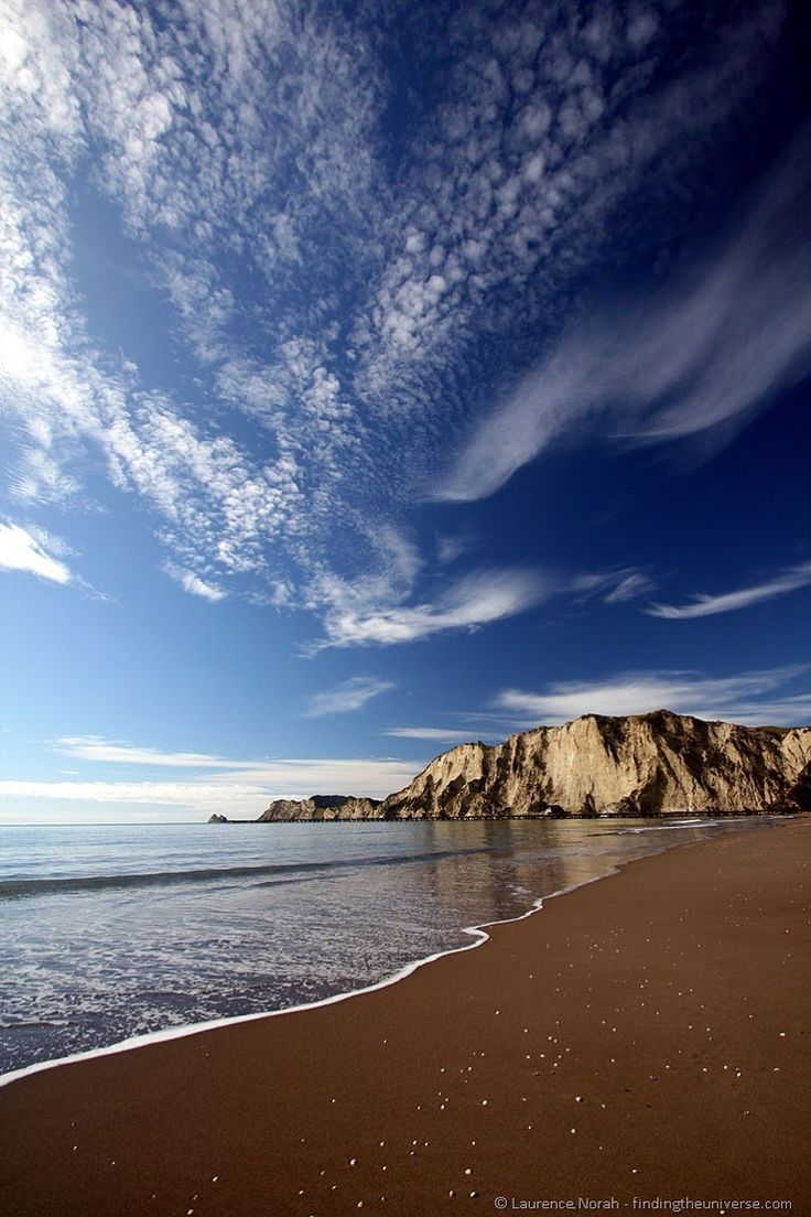 Tolaga Bay beach in the eastern part of New Zealand's north island.