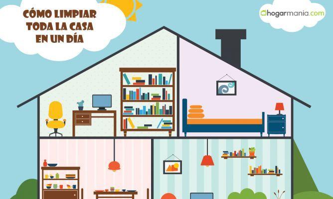 ¿Sabes cómo limpiar toda la casa en un sólo día? Lo cierto es que es posible si juntamos dos conceptos básicos: orden y reparto de tareas.