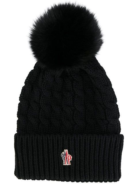 a6eef1be84c Moncler Grenoble Fur Pom Pom Beanie in 2018